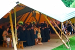 The teepee dining tent